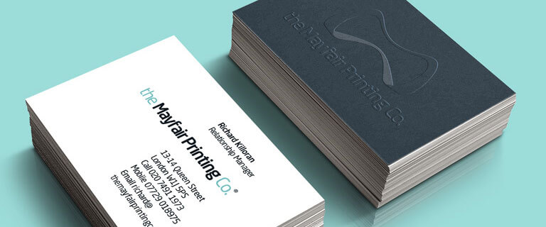 The mayfair printing co products serviceslithographic printing a simple item but with a wide range of options your business card can deliver a variety of messages with its appearance single or double sided reheart Images